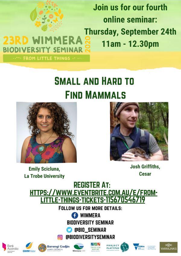 23rd Wimmera Biodiversity Seminar No 4