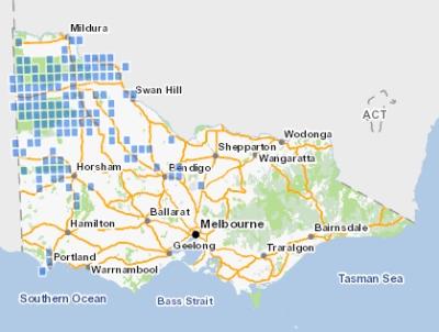 Malleefowl historic distribution in Victoria