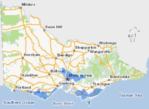 Australian mudfish map