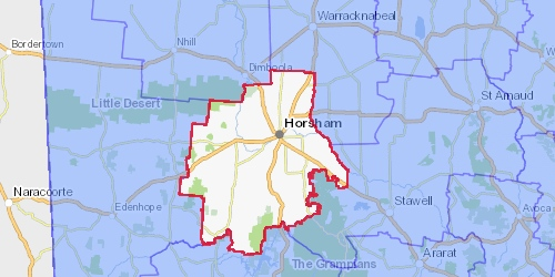 horsham lga map