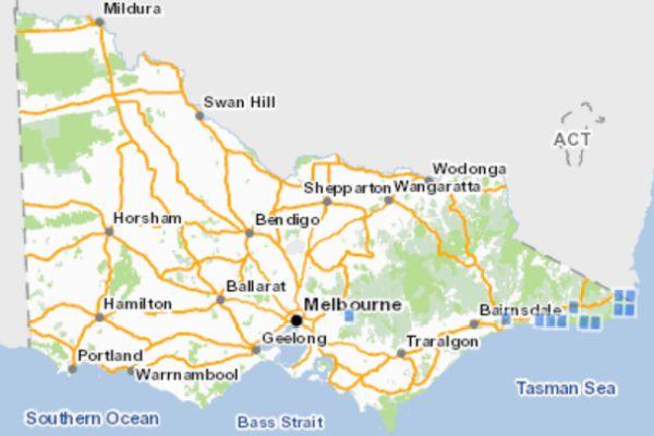 Eastern Bristlebird Victorian distribution