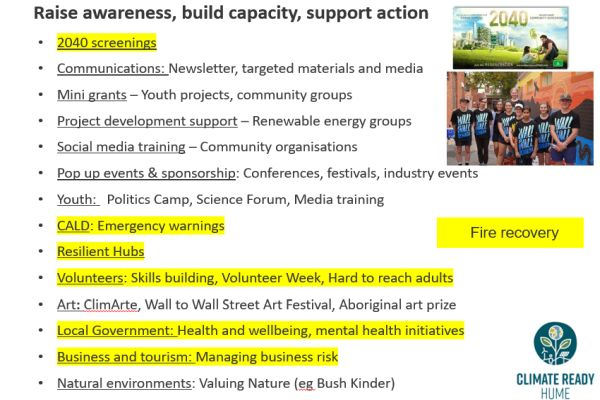 Climate change engagement 2 Hume Region