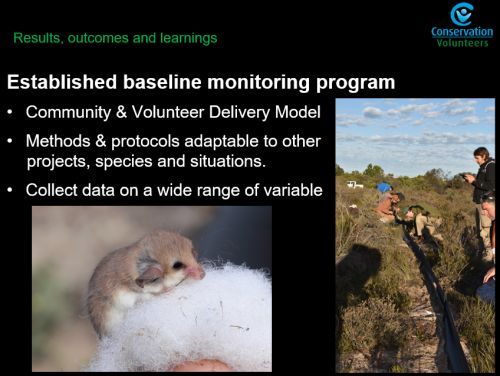 Rewilding the desert project Ben Holmes, base line monitoring