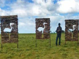"intro Beeac Brolga Pathways with Peter Day, environmental artist"" - Karen Cherry and Peter Day"