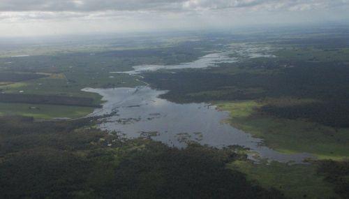 Rose Lake Condah aerial view full lake